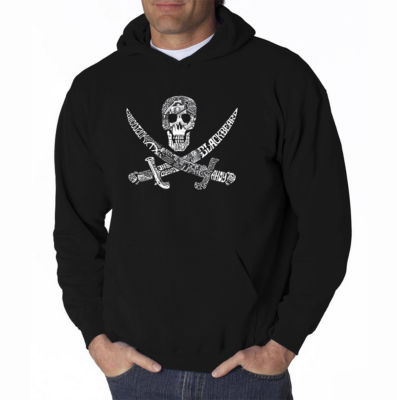 Los Angeles Pop Art Pirate Captains Ships and Imagery Long Sleeve Word Art Hoodie