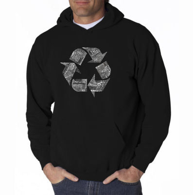 Los Angeles Pop Art 86 Recyclable Products Long Sleeve Word Art Hoodie