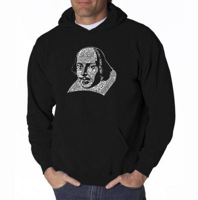 Los Angeles Pop Art William Shakespeare Long Sleeve Word Art Hoodie