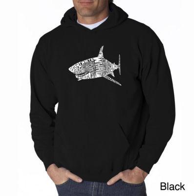 Los Angeles Pop Art Species of Shark Long Sleeve Word Art Hoodie