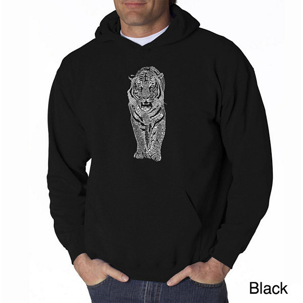 Los Angeles Pop Art Tiger Long Sleeve Word Art Hoodie