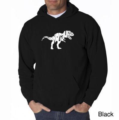 Los Angeles Pop Art Tyrannosaurus Rex Long SleeveWord Art Hoodie