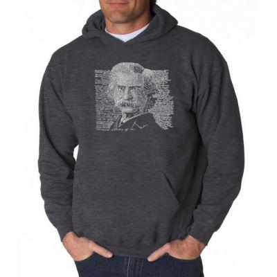 Los Angeles Pop Art Mark Twain Long Sleeve Word Art Hoodie