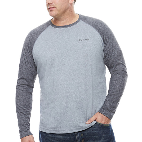 columbia long sleeve crew neck t shirt big and tall jcpenney