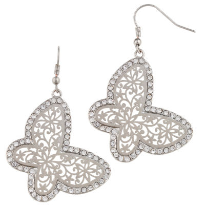 Decree Clear Drop Earrings