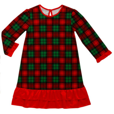 Holiday Plaid Nightgown-Toddler Girls