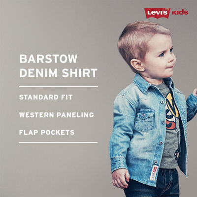 Levi's Long Sleeve Button-Front Shirt -Baby Boys