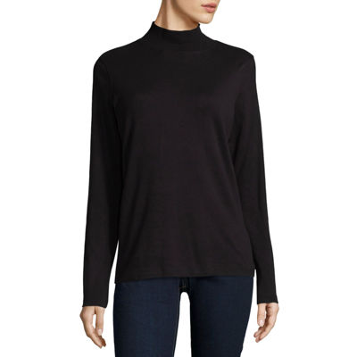 St. John's Bay Mock Neck Top
