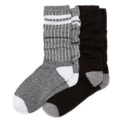 Mixit 2 Pair Ultra Soft Slouch Crew Socks - Womens