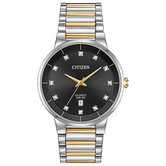 Citizen Mens Two Tone Bracelet Watch Bi5018 57e