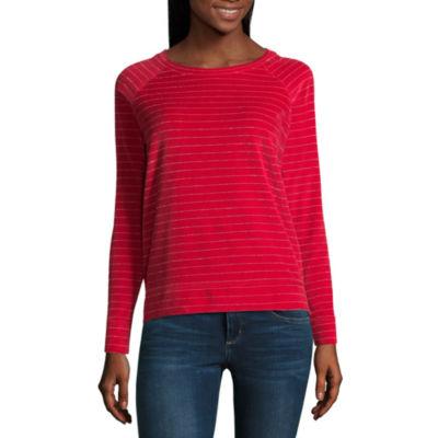 Liz Claiborne Long Sleeve Sweatshirt - Tall