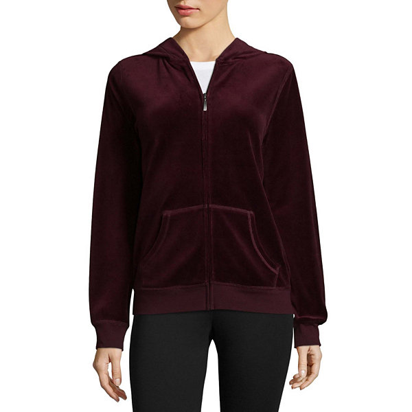 St. John's Bay Active Velour Jacket - Tall