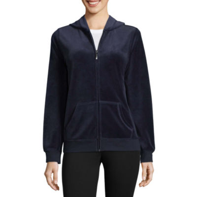 St. John's Bay Active Velour Jacket - Talls