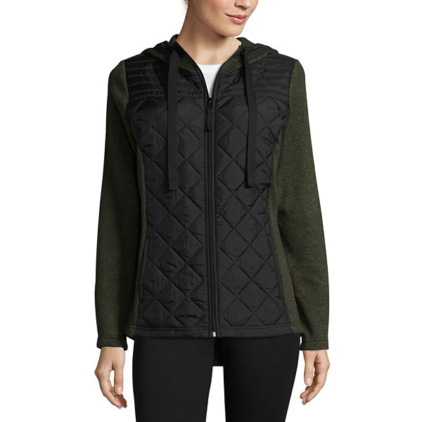 St. John's Bay Active Mixed Media Jacket - Tall