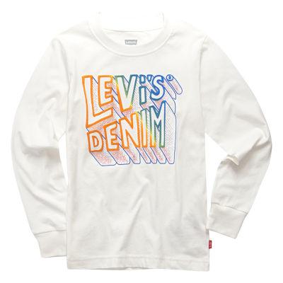 Levi's Graphic Long Sleeve T-Shirt-Big Kid Boys