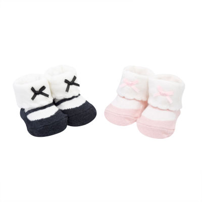 Carter's 2 Pack Ballerina Pull On Booties - Baby Girl
