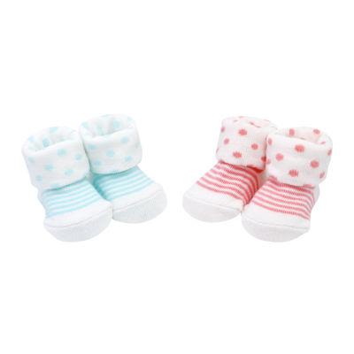 Carter's 2-Pk Polka Dot & Stripe Socks - Baby Girl