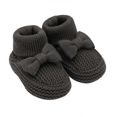 Carter's Bow Knit Pull-On Booties - Baby Girl