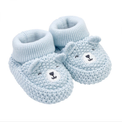 Carter's Blue Bear Pull on Booties - Baby Boy