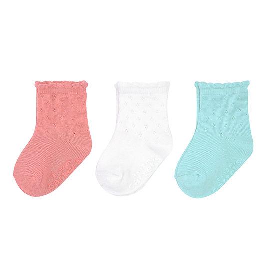 Carter's 3 Pair Crew Socks Girls Baby