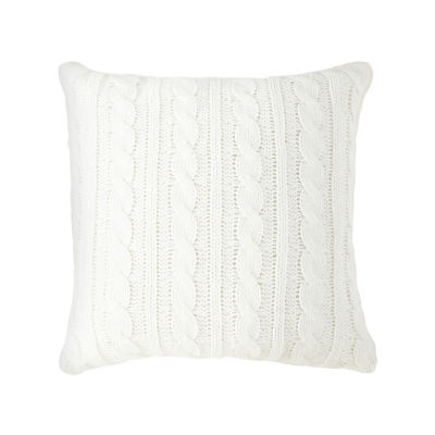Peyton & Parker Chenille With Long Fur Square Throw Pillow