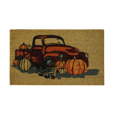 JCPenney Home Harvest Truck Printed Rectangular Doormat