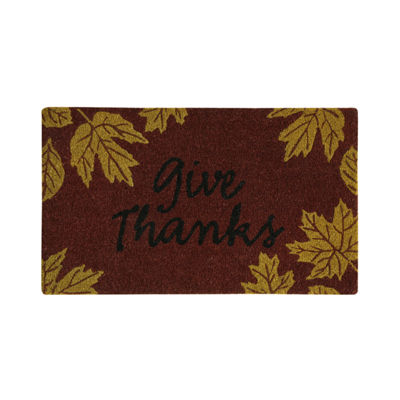 JCPenney Home Give Thanks Printed Rectangular Doormat