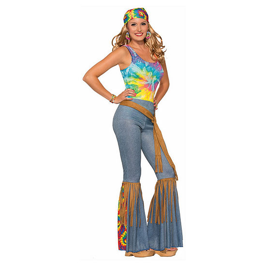 Womens Hippie Pants With Belt 2-pc. Dress Up Costume
