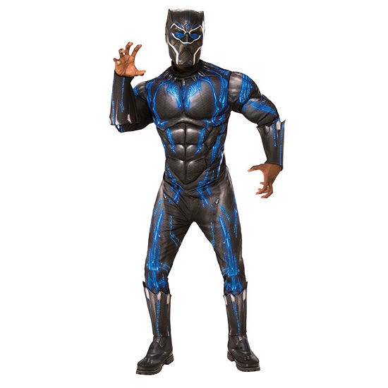 Marvel Black Panther Movie Mens Deluxe Black Panther Battle Suit
