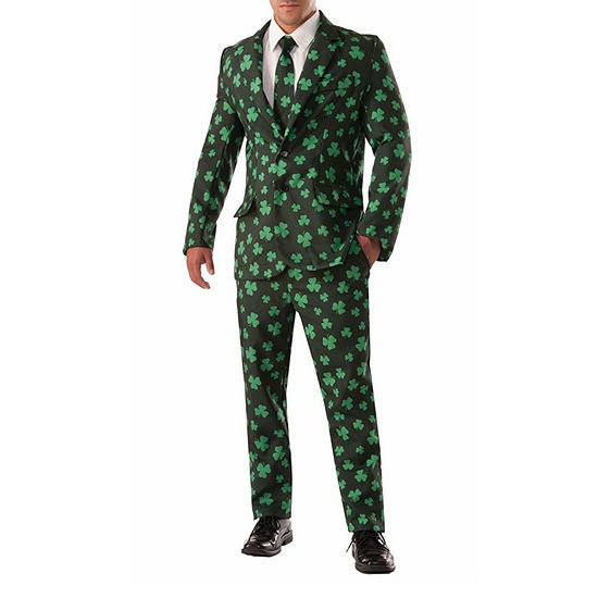 Mens Shamrock Suit & Tie Costume