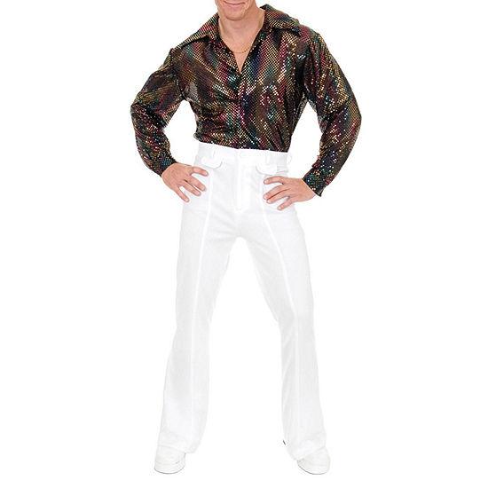 Mens Sequin Disco Shirt