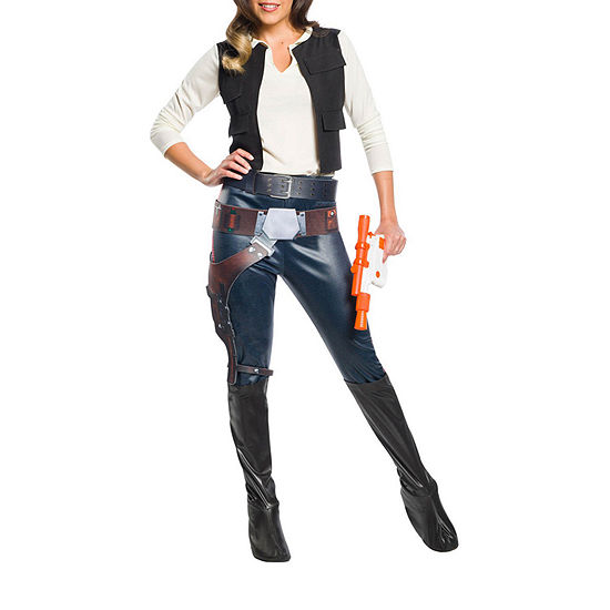 Star Wars Womens Classic Han Solo Dress Up Costume 4-pc. Star Wars Dress Up Costume