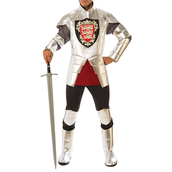 Buyseasons Mens Silver Knight Costume 2-pc. Dress Up Costume