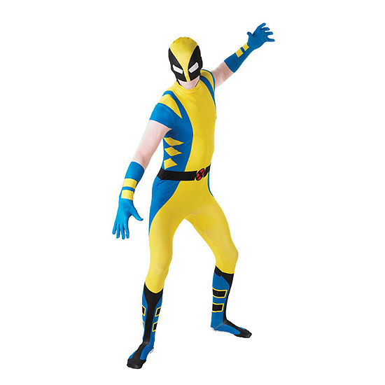 X-Men Mens Wolverine Second Skin Dress Up Costume Marvel Dress Up Costume