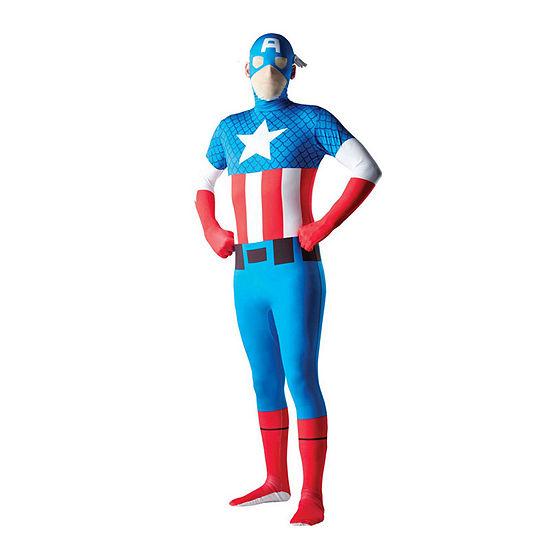 Buyseasons Mens Captain America Second Skin Dress Up Costume Captain America Dress Up Costume