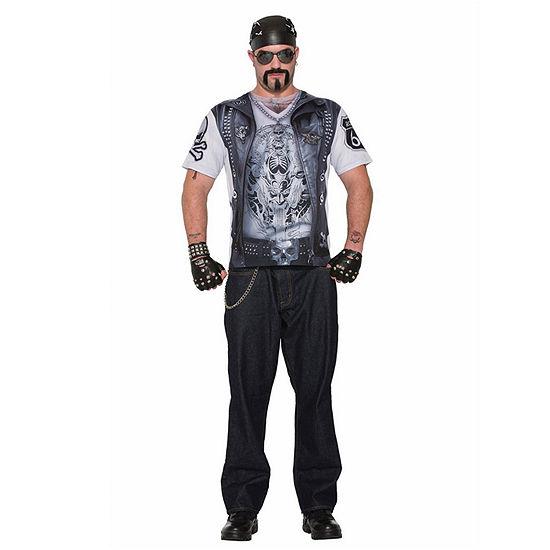 Mens Sublimation Biker Guy Shirt