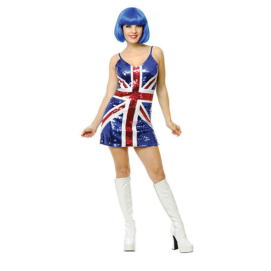 Womens British Sequin Dress Dress Up Costume