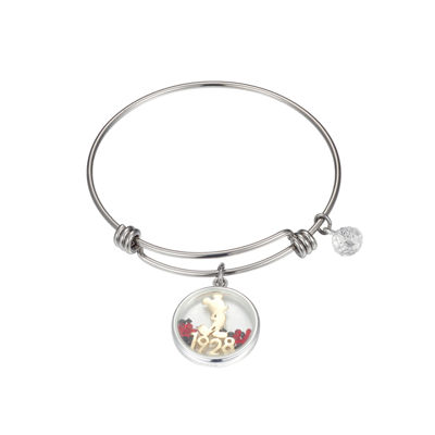 Disney Multi Color Pure Silver Over Brass Mickey Mouse Bangle Bracelet