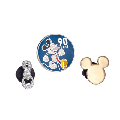 Disney Mickey'S 90th Collection Silver Over Brass Pin