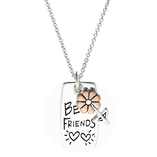 Footnotes Sisters Sterling Silver Flower Pendant Necklace