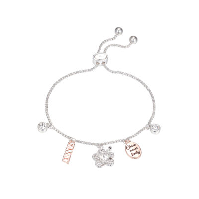 Disney Crystal Pure Silver Over Brass Lilo & Stitch Bolo Bracelet
