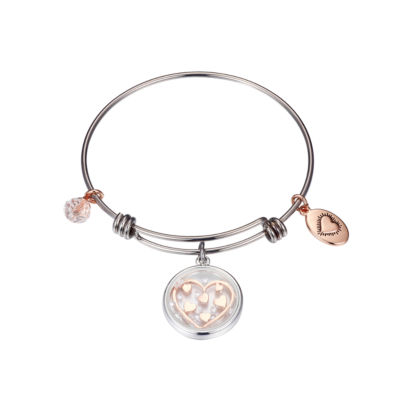 Footnotes Footnotes Footnotes Clear Pure Silver Over Brass Round Bangle Bracelet
