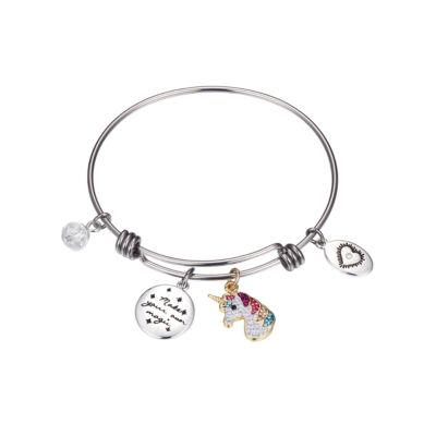 Sparkle Allure 6227 Crystal Kingdom Critter Multi Color Silver Tone Pure Silver Over Brass Bangle Bracelet
