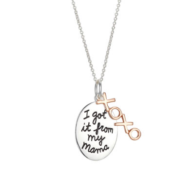 Footnotes Womens Sterling Silver Oval Pendant Necklace