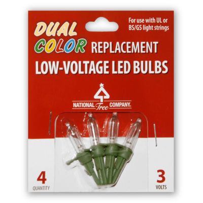 National Tree Co. 4-Pc. Dual Color Led Replacement Set Replacement Light