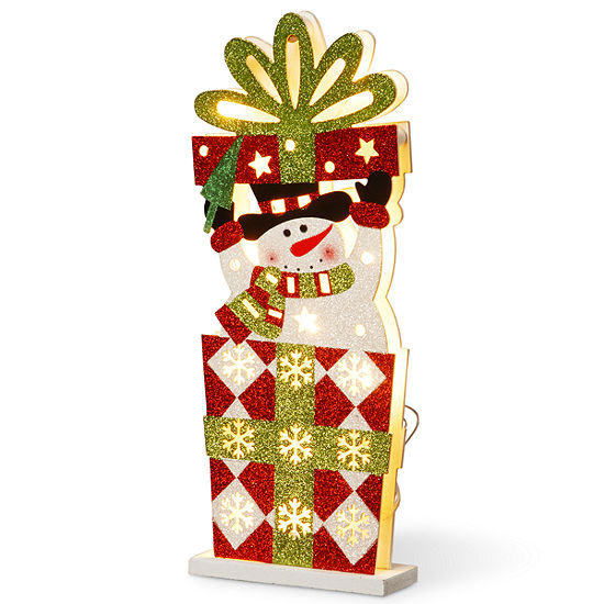 """National Tree Co. 17"""" Double Sided Snowman Tabletop Decor"""