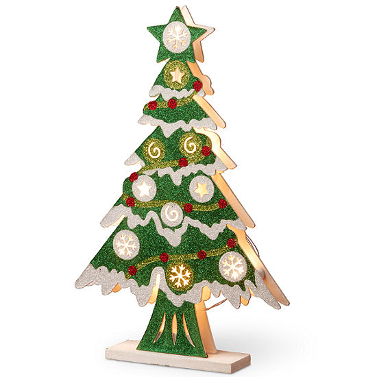 National Tree Co Wood Look Double Sided Tabletop Decor