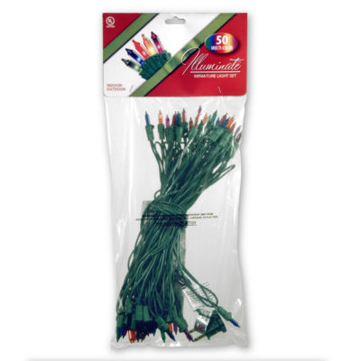National Tree Co. 50 Multi-Color Indoor/Outdoor String Lights