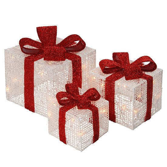 PRE LIT THREAD GIFT BOX ASSORTMENT