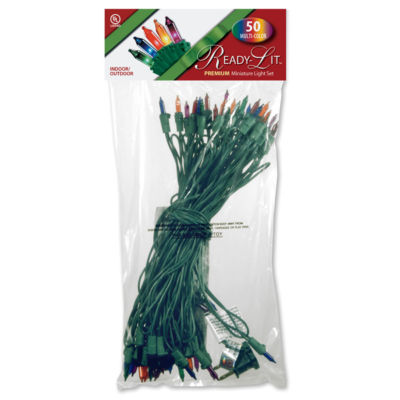National Tree Co. Ready-Lit Premium 50 Multi-Color Indoor/Outdoor String Lights